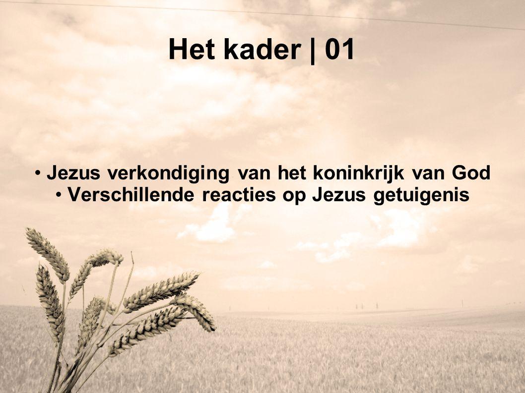 Het kader | 01 Jezus verkondiging van het koninkrijk van God