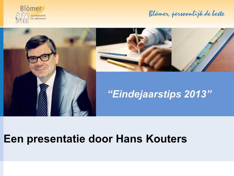 Een presentatie door Hans Kouters