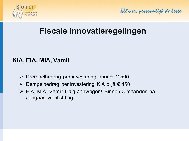 Fiscale innovatieregelingen