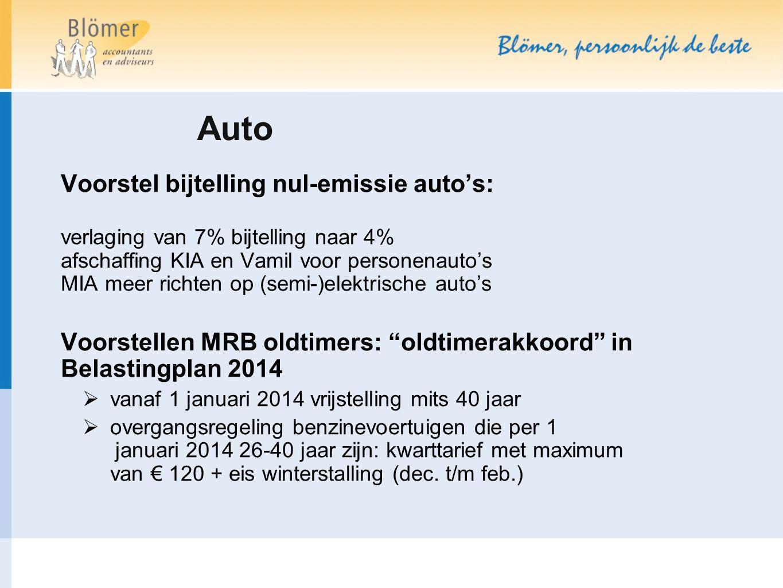 Auto Voorstel bijtelling nul-emissie auto's: