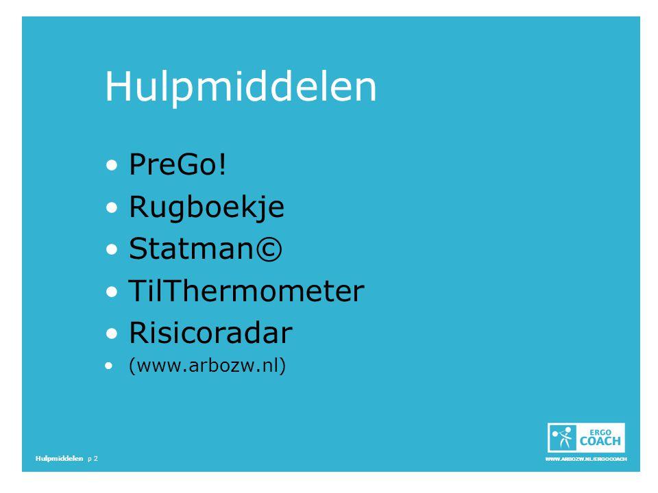 Hulpmiddelen PreGo! Rugboekje Statman© TilThermometer Risicoradar