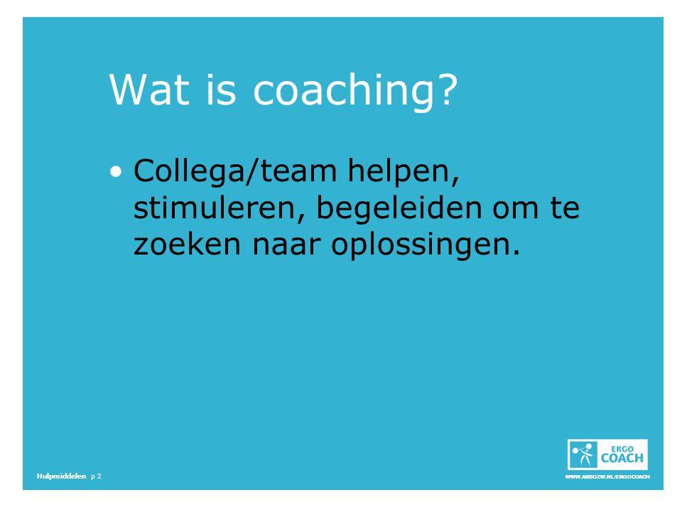 Wat is coaching Collega/team helpen, stimuleren, begeleiden om te zoeken naar oplossingen. Start 16.05 - 16.13.