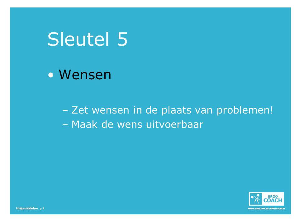 Sleutel 5 Wensen Zet wensen in de plaats van problemen!