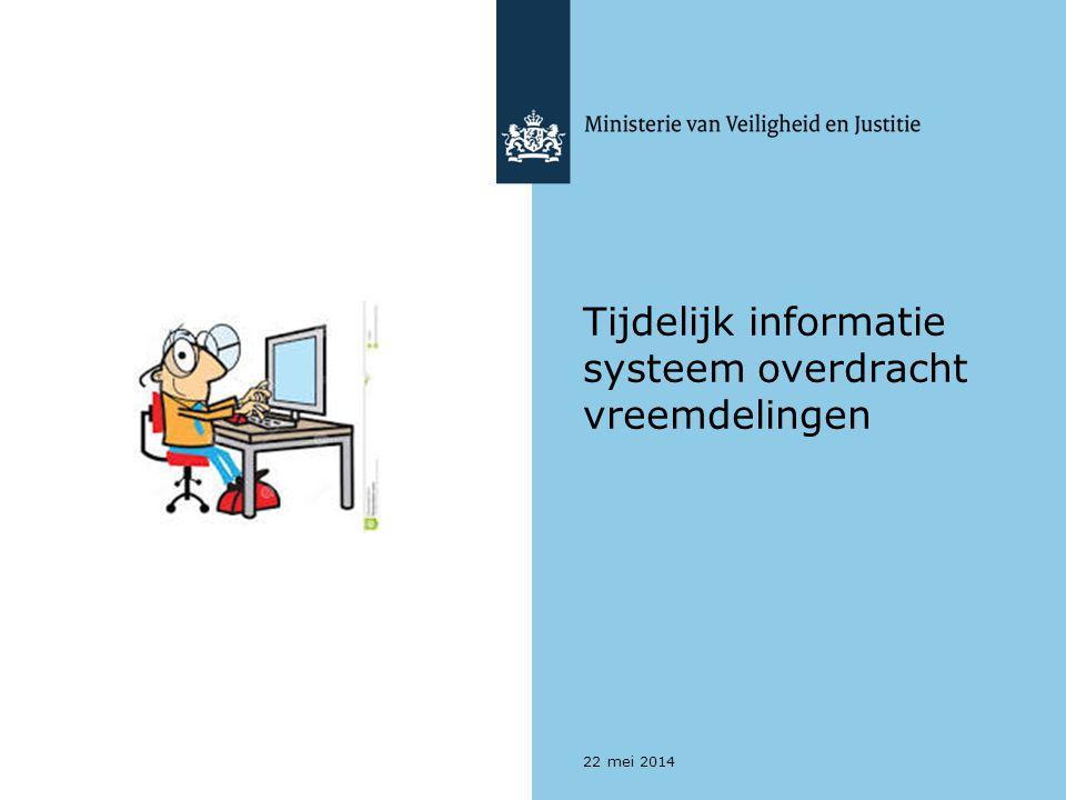 Tijdelijk informatie systeem overdracht vreemdelingen