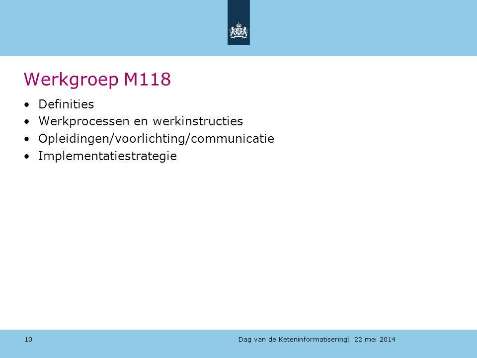 Werkgroep M118 Definities Werkprocessen en werkinstructies