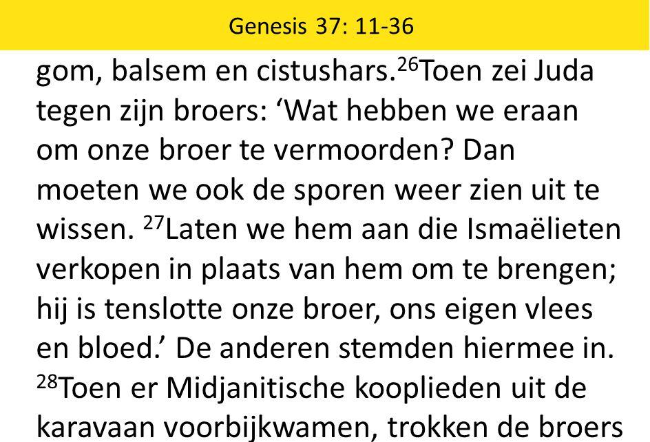 Genesis 37: 11-36