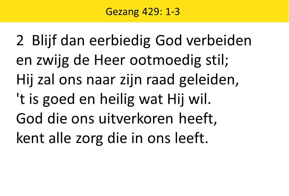 2 Blijf dan eerbiedig God verbeiden en zwijg de Heer ootmoedig stil;