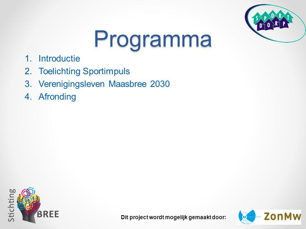 Programma Introductie Toelichting Sportimpuls