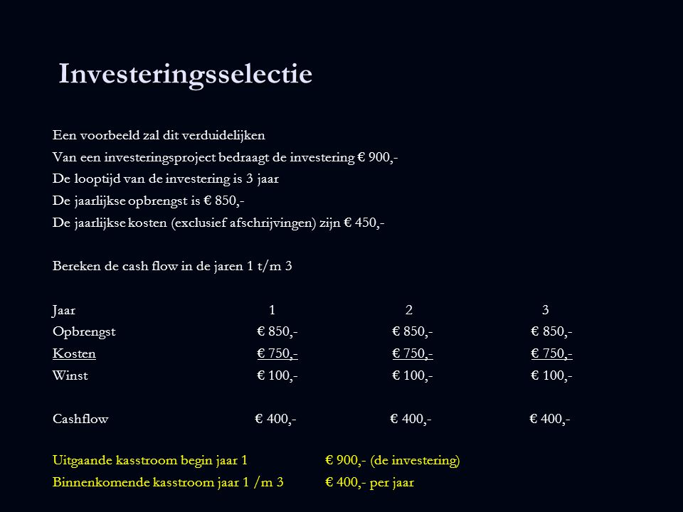 Investeringsselectie