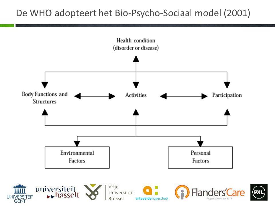 De WHO adopteert het Bio-Psycho-Sociaal model (2001)