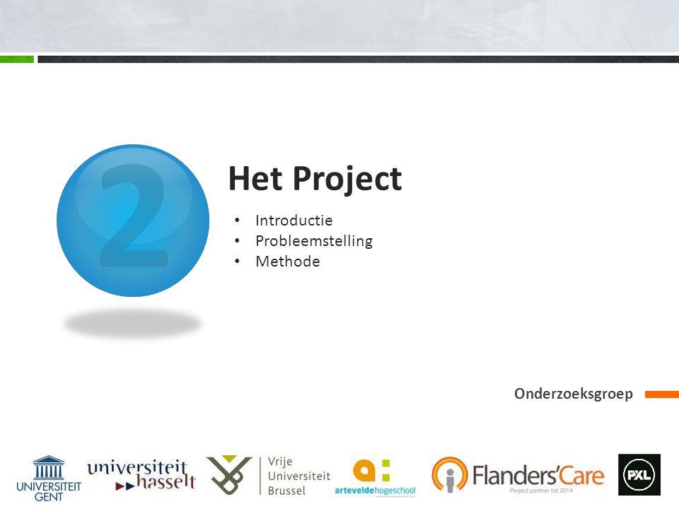 2 Het Project Introductie Probleemstelling Methode Onderzoeksgroep