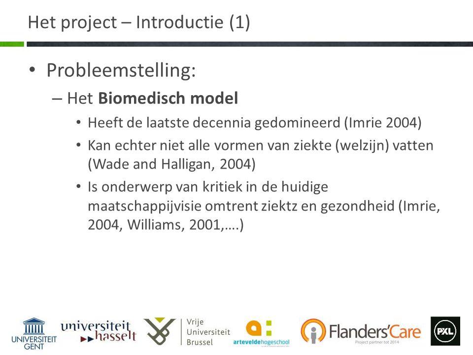 Het project – Introductie (1)
