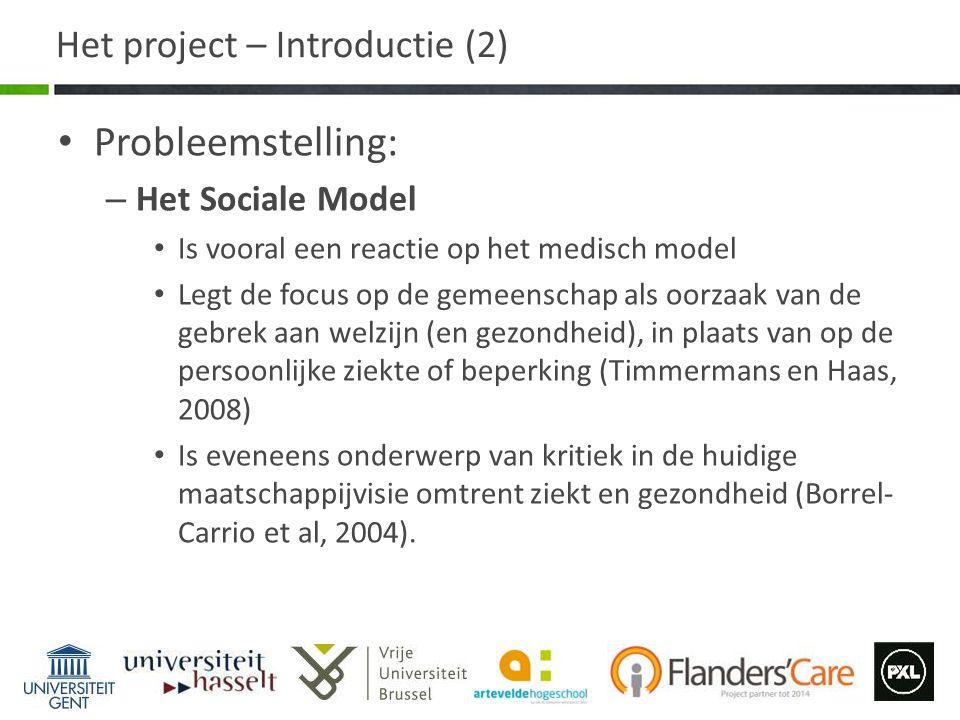 Het project – Introductie (2)