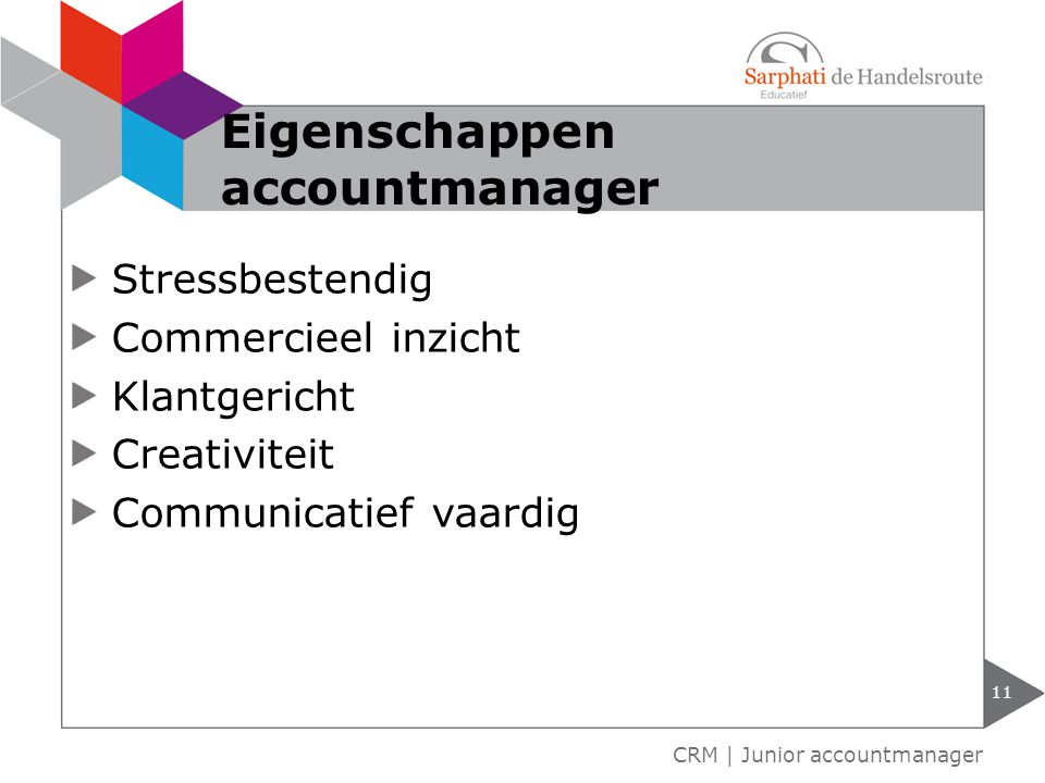 Eigenschappen accountmanager