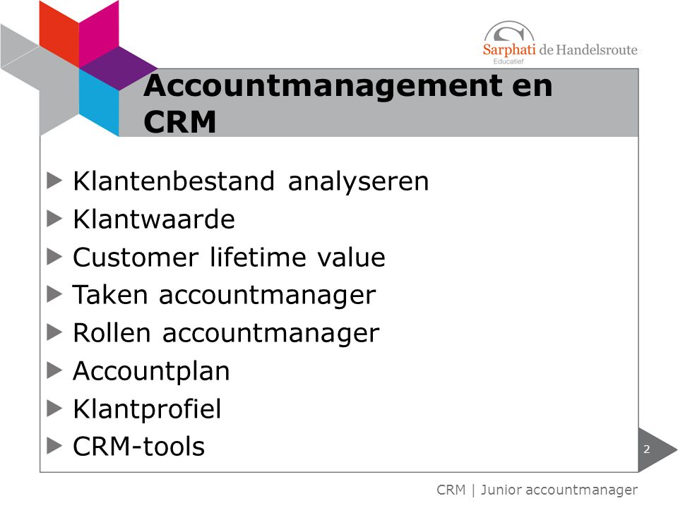 Accountmanagement en CRM