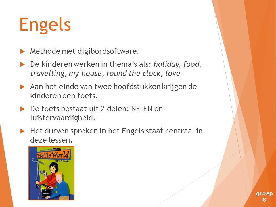 Engels Methode met digibordsoftware.