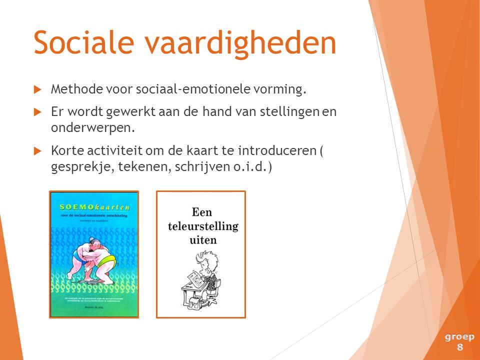 Sociale vaardigheden Methode voor sociaal-emotionele vorming.