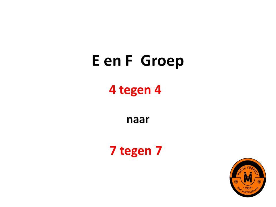 E en F Groep 4 tegen 4 naar 7 tegen 7