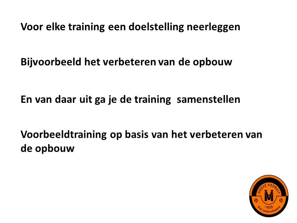 Voor elke training een doelstelling neerleggen