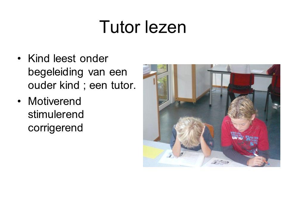 Tutor lezen Kind leest onder begeleiding van een ouder kind ; een tutor.