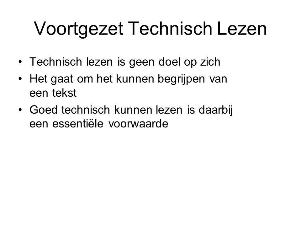 Voortgezet Technisch Lezen