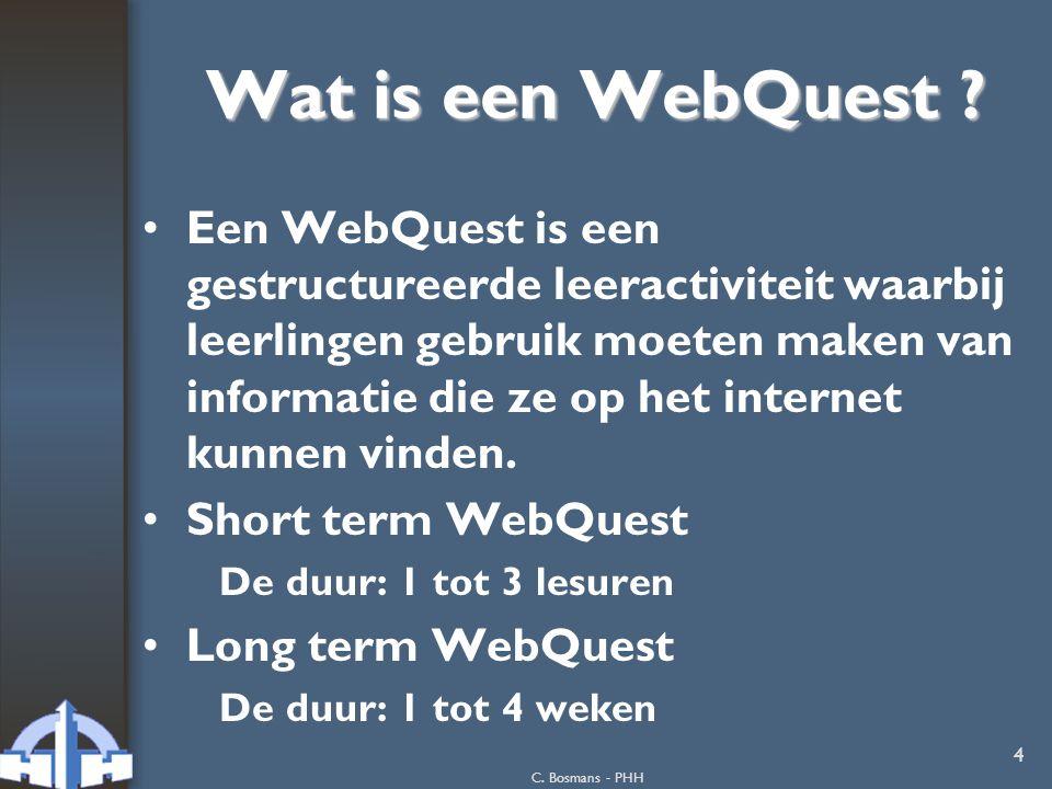 Wat is een WebQuest
