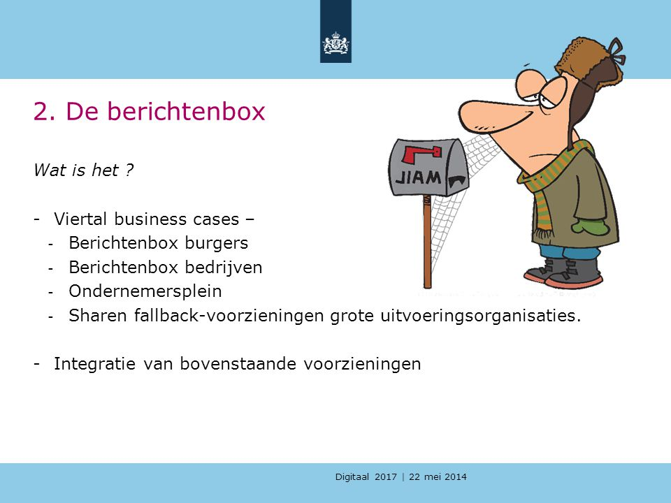 2. De berichtenbox Wat is het Viertal business cases –