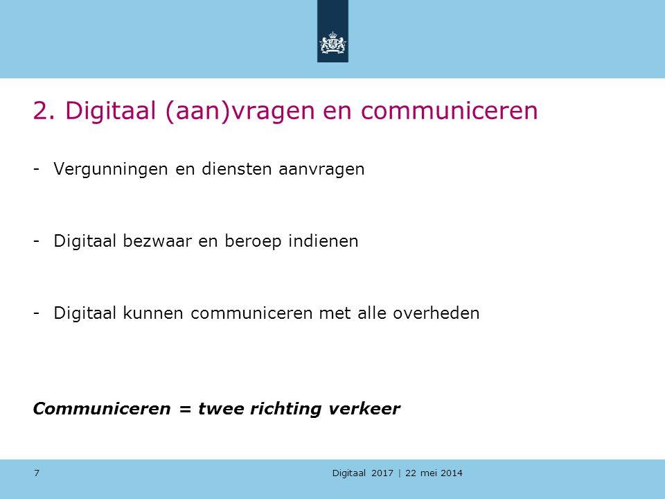2. Digitaal (aan)vragen en communiceren