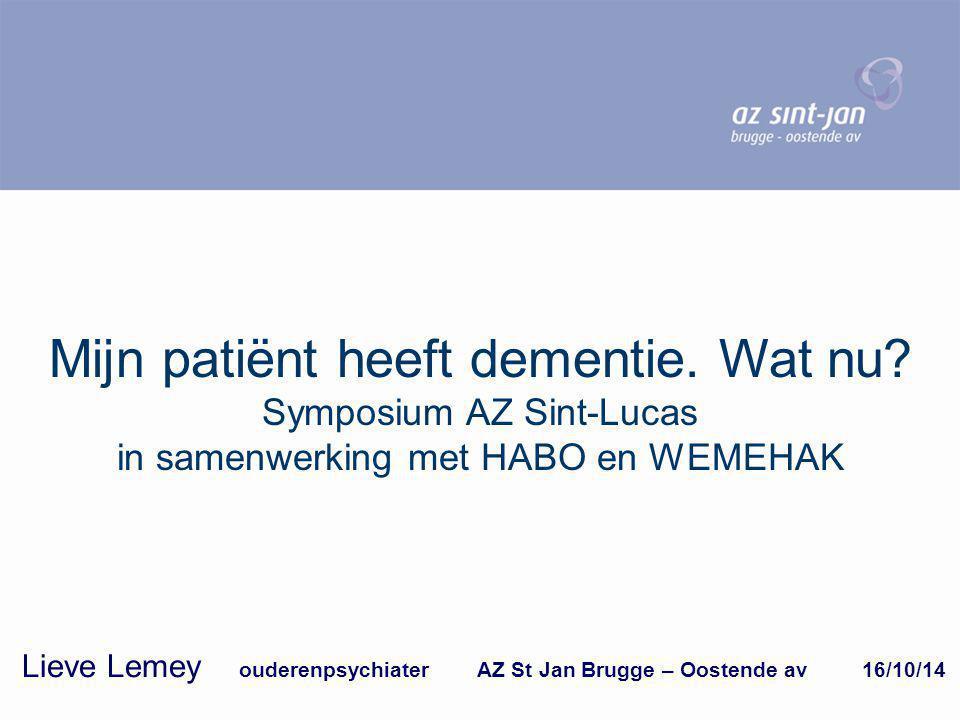 Lieve Lemey ouderenpsychiater AZ St Jan Brugge – Oostende av 16/10/14