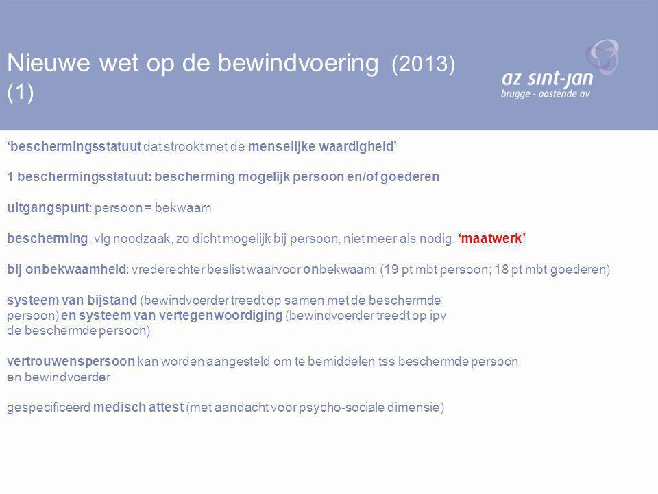 Nieuwe wet op de bewindvoering (2013) (1)