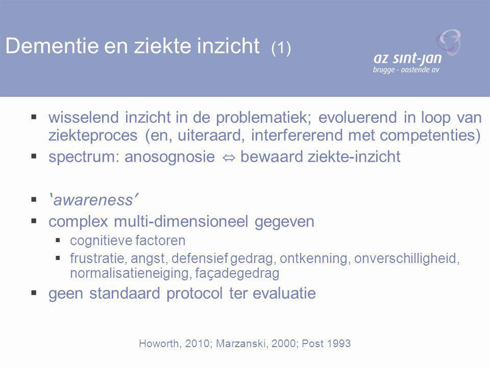 Dementie en ziekte inzicht (1)