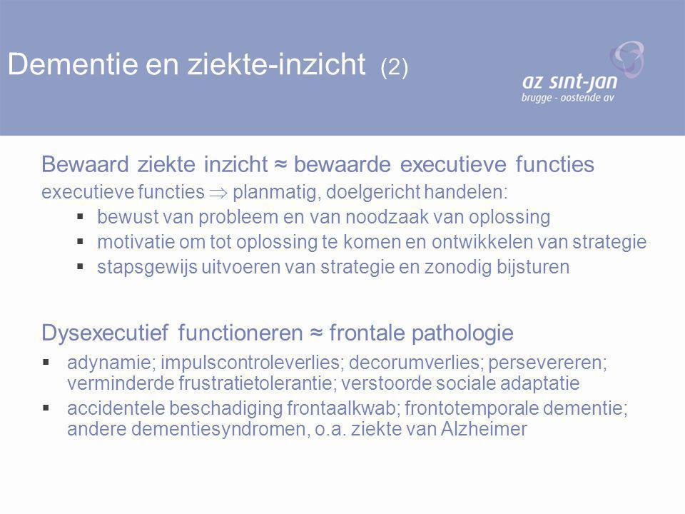 Dementie en ziekte-inzicht (2)