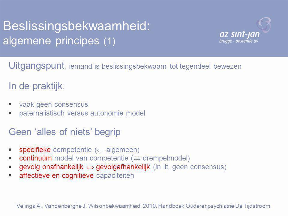 Beslissingsbekwaamheid: algemene principes (1)