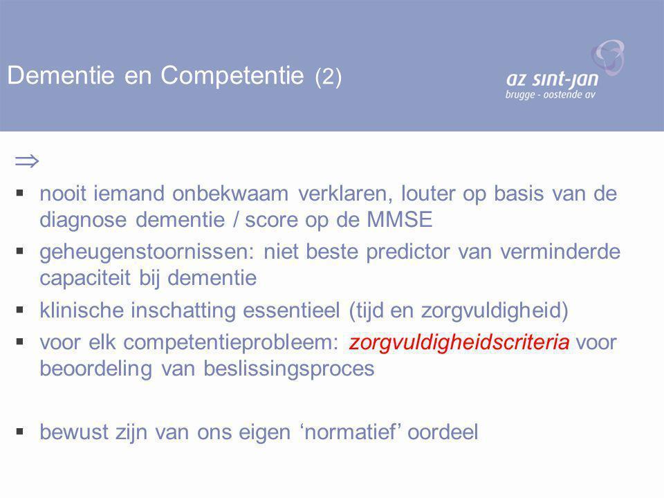 Dementie en Competentie (2)