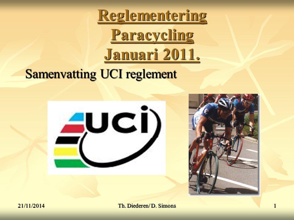 Reglementering Paracycling Januari 2011.