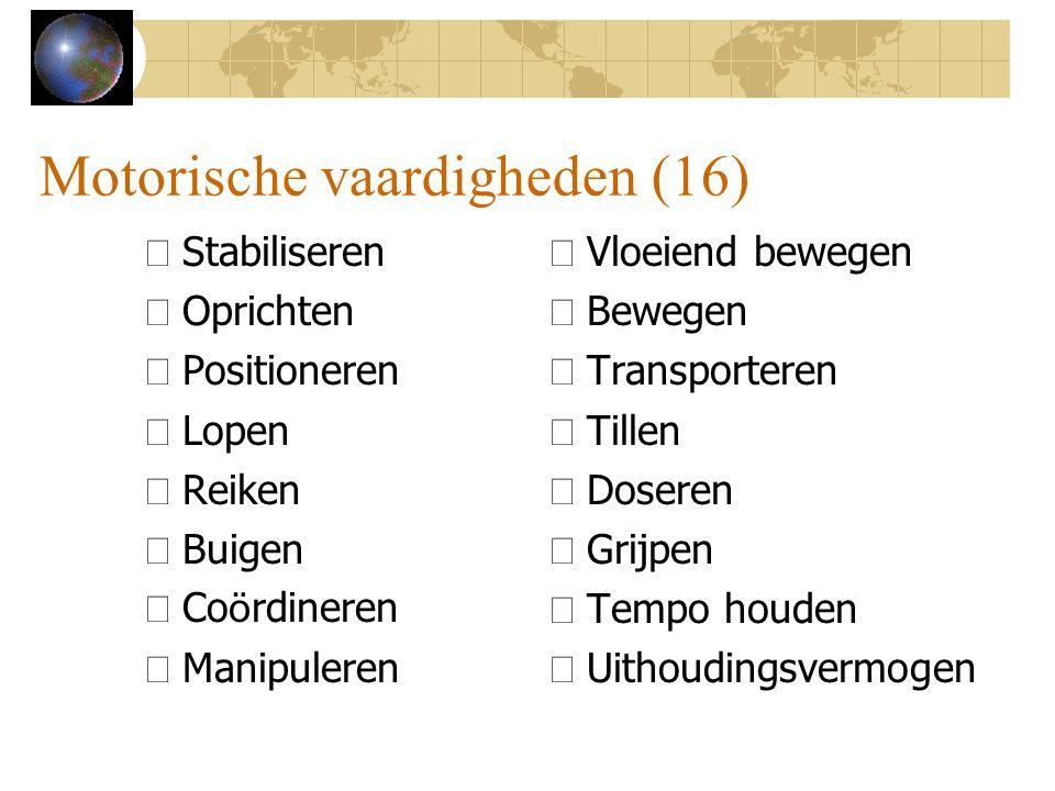 Motorische vaardigheden (16)