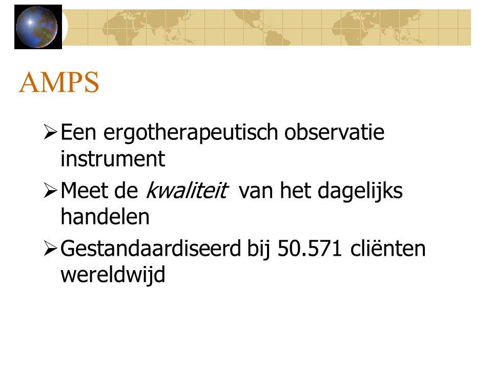 AMPS Een ergotherapeutisch observatie instrument