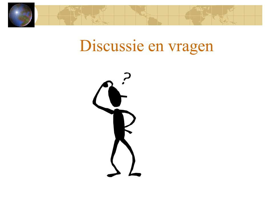 Discussie en vragen As time allows, encourage questions and discussion.