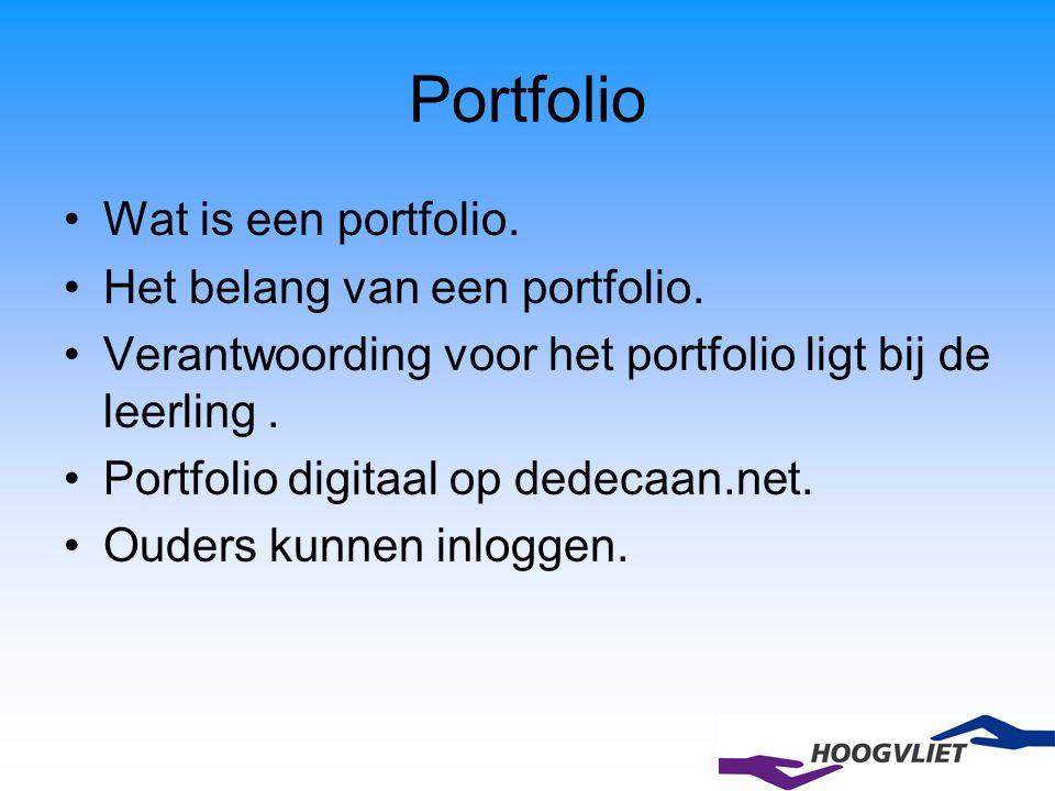 Portfolio Wat is een portfolio. Het belang van een portfolio.