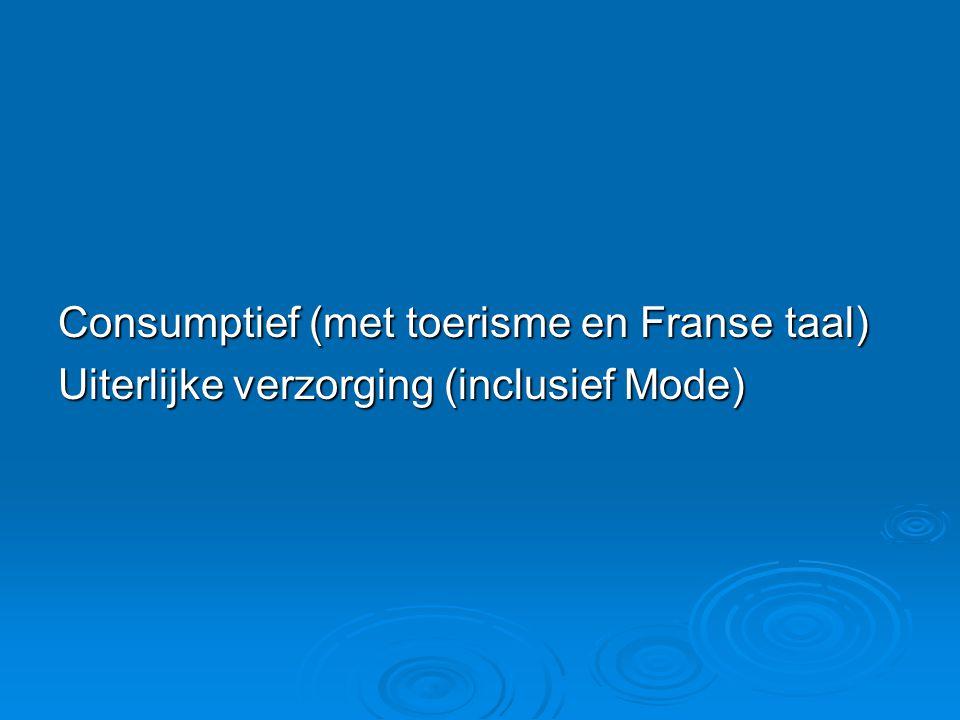 Consumptief (met toerisme en Franse taal)