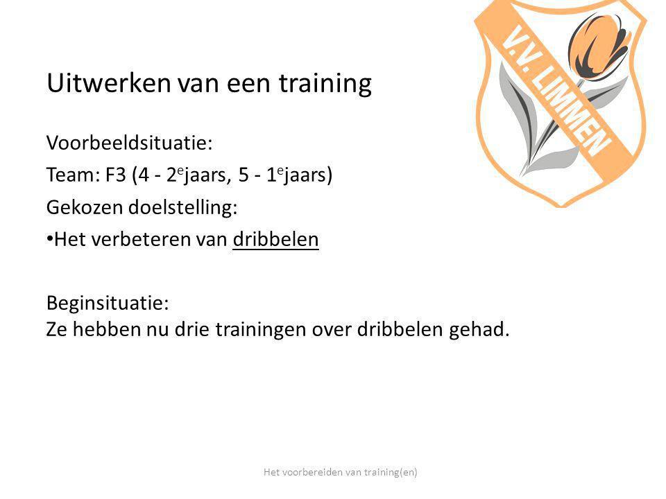 Het voorbereiden van training(en)