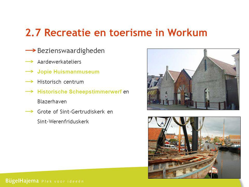 2.7 Recreatie en toerisme in Workum