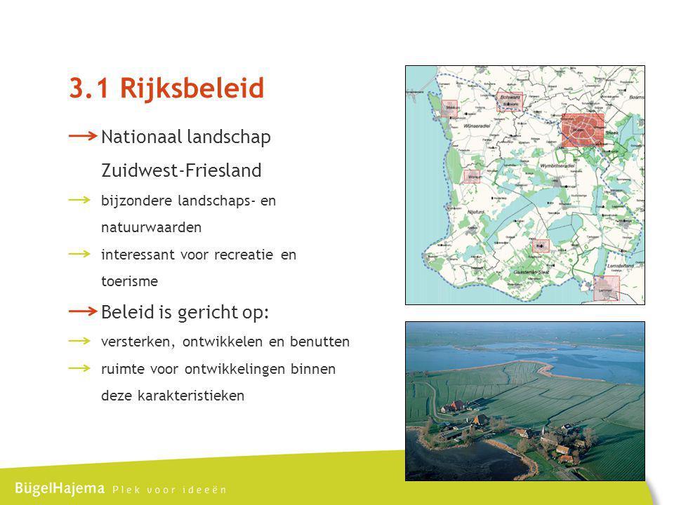 3.1 Rijksbeleid Nationaal landschap Zuidwest-Friesland