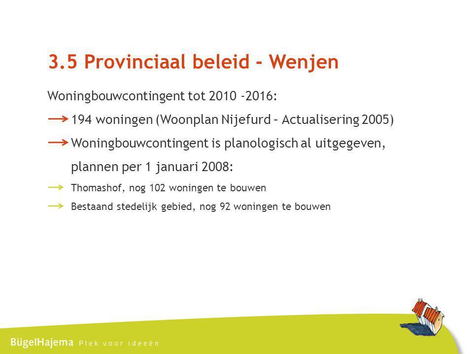 3.5 Provinciaal beleid - Wenjen