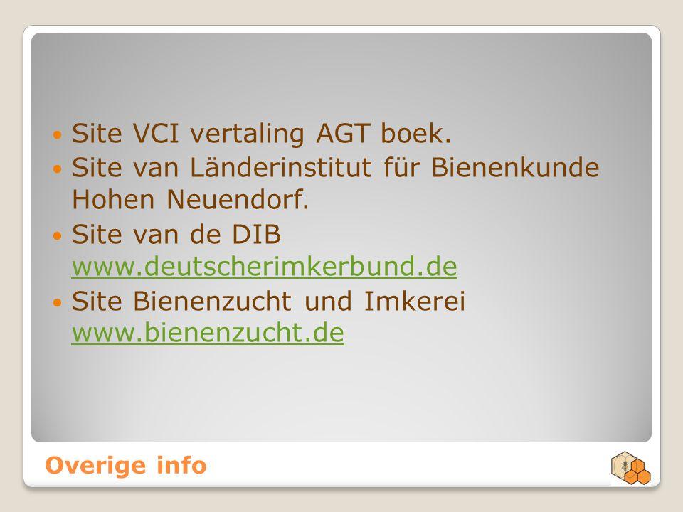 Site VCI vertaling AGT boek.
