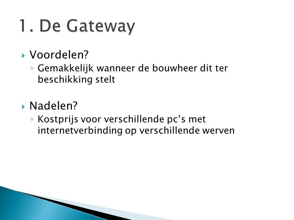 1. De Gateway Voordelen Nadelen