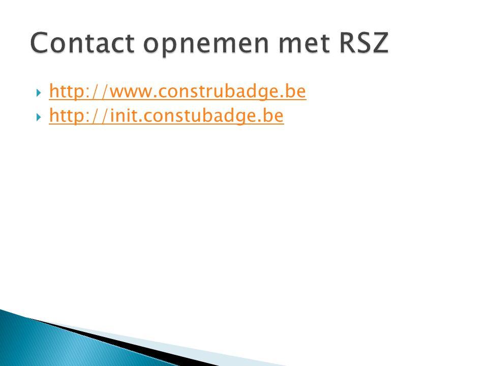 Contact opnemen met RSZ