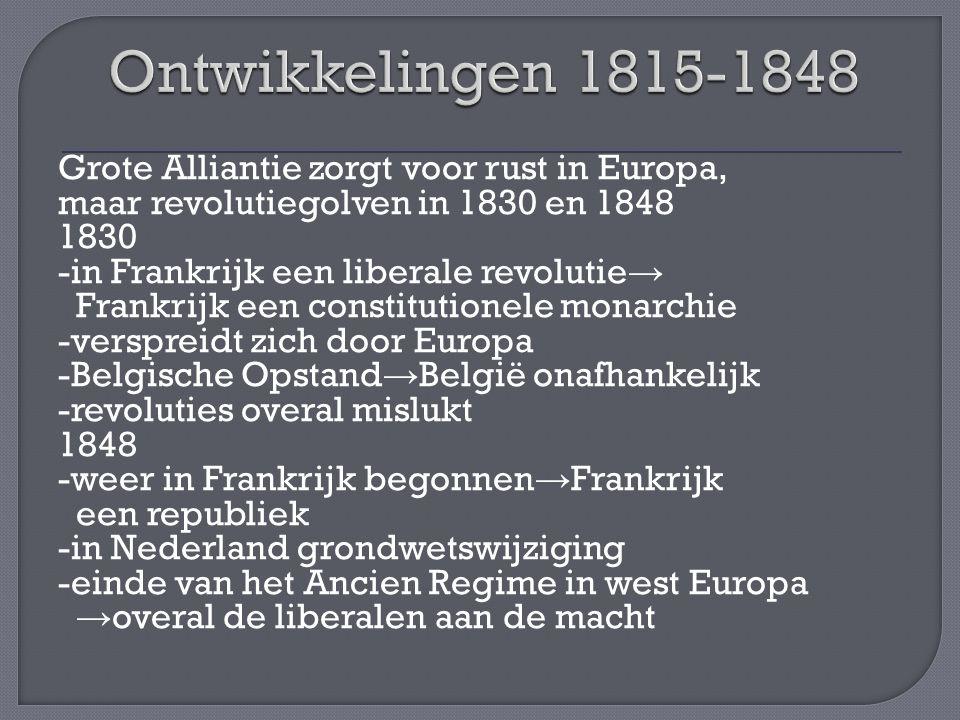 Ontwikkelingen 1815-1848
