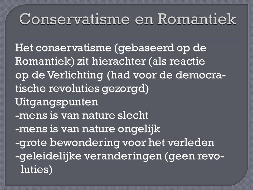 Conservatisme en Romantiek