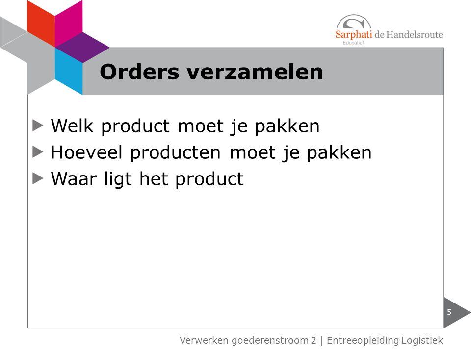 Orders verzamelen Welk product moet je pakken